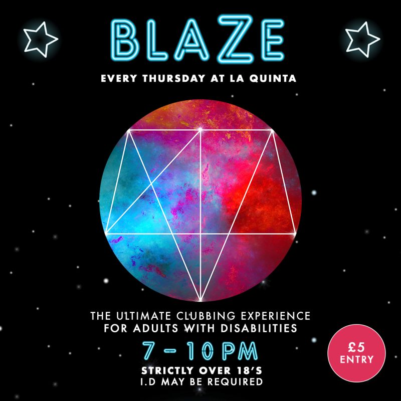 Blaze Club Night At La Quinta Benfleet Essex Poster